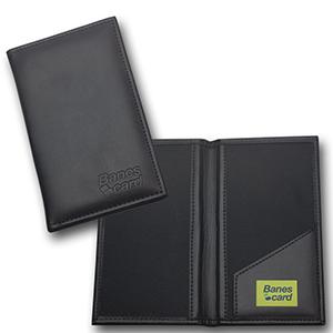 Porta-contas confeccionado em couro legítimo, sintético ou ecológico