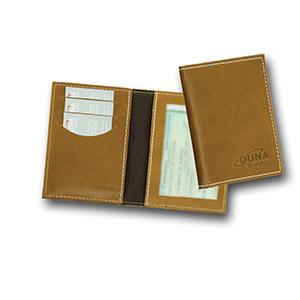Duna Brindes - Porta-documento confeccionado em couro legítimo, sintético ou ecológico