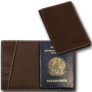 Duna Brindes - Porta-passaporte em couro legítimo, sintético ou ecológico