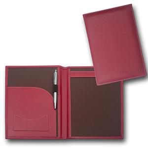 Duna Brindes - Porta-receituário confeccionado em couro legítimo, sintético ou ecológico