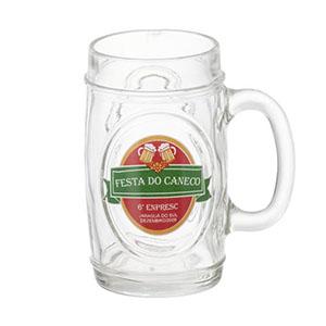 Dumont ABC - Caneca de chopp personalizada em vidro fritz - 475 ml. Sua marca presente nos momentos especiais.
