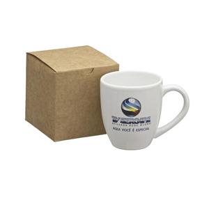 Kit personalizado com caneca organic branca - 360 ml. - Dumont ABC Porcelanas Personal...