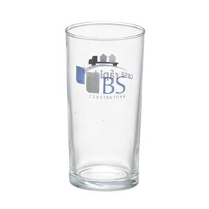 - Copo personalizado em vidro cylinder - 300 ml. Sua marca presente no dia a dia dos clientes.