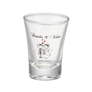 Dumont ABC Porcelanas Personalizadas - Copo dose personalizado em vidro - 60 ml.