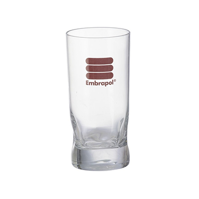 Copo amassadinho-310ml em vidro personalizado.