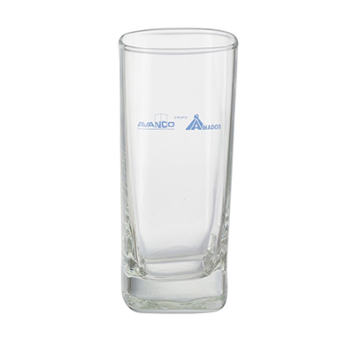 Dumont ABC Porcelanas Personalizadas - Copo long drink quadrado paris vidro 310ml.