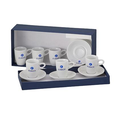 dumont-abc - Kit 6 xícara café Genova e embalagem forrada.