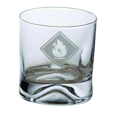 dumont-abc - Copo de whisky amassadinho em vidro 250ml.