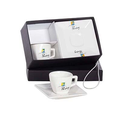 Kit com 2 xícaras de café quartier com embalagem forrada. - Dumont ABC Porcelanas Personal...