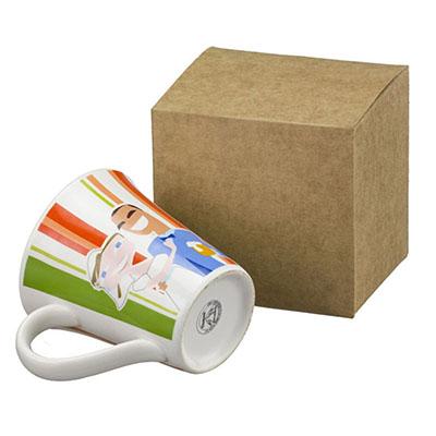 Dumont ABC Porcelanas Personalizadas - Kit com caneca tulipa 330ml cerâmica.