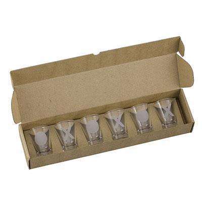 Dumont ABC Porcelanas Personalizadas - Kit com 6 copos aperitivo 60ml.