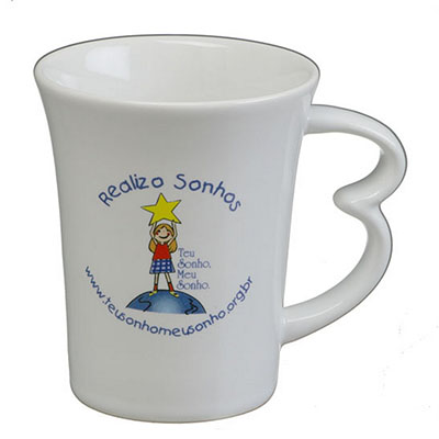 dumont-abc - Caneca easy 320ml branca.