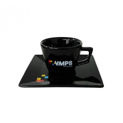 Dumont ABC Porcelanas Personalizadas - Xícara de café 65ml quartier preta.