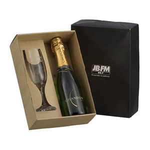 Dumont ABC - kit personalizado com 1 taça e 1 chandon 375 ml.