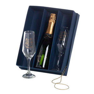 dumont-abc - kit champanhe personalizado com taças bistro chandon - 375 ml.