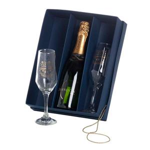 kit champanhe personalizado com taças bistro chandon - 375 ml.