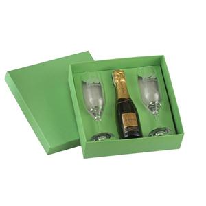dumont-abc - kit personalizado com 2 taças galante chandon baby - embalagem forrada com berço.