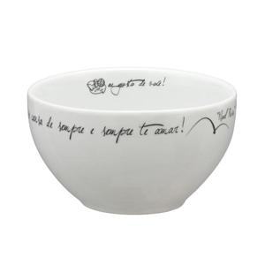 dumont-abc - Tigela personalizada bowl branca - 450 ml.