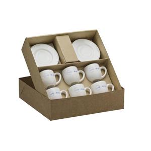 dumont-abc - Kit personalizado com 2 xícaras de café monac - Embalagem em kraft.
