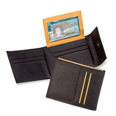 Secoli Brindes - Carteira com 4 bolsos e porta cartões. Seu cliente em primeiro lugar!