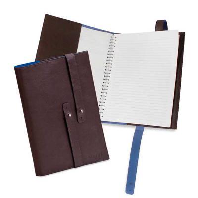 Capa para caderno com 4 bolsos porta cartões e porta notas. Sua marca facilitando a vida do cliente! - Secoli Brindes