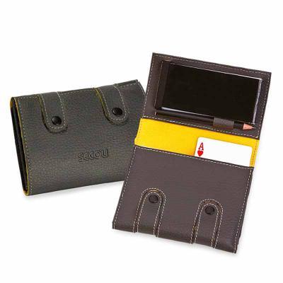 Kit jogos com bloco de anotações e porta caneta/lápis.Conquiste seus clientes nos pequenos detalhes! - Secoli Brindes
