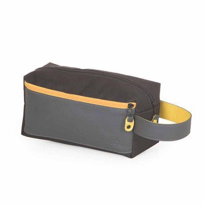 Secoli Brindes - Nécessaire com bolso frontal e alça de mão bicolor. Destaque-se com um brinde estiloso e versátil