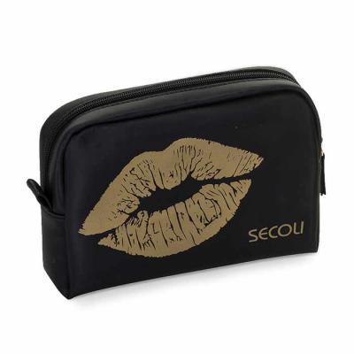 Secoli Brindes - Necessaire elegante, charmosa e prática, ideal para guardar no dia a dia seus pertences, além de transporta-los com segurança em viagens.