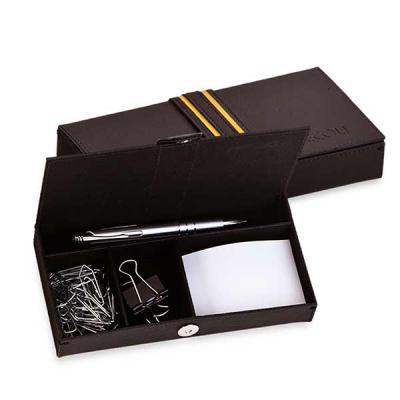 secoli-brindes - Organizador de mesa com porta canetas, porta clips e porta rascunho. Sua marca ganhando evidência e organizando a vida do cliente!