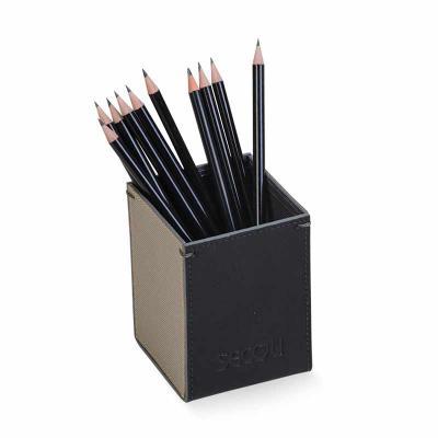 Secoli Brindes - Porta-canetas que permite organizar com facilidade sua mesa e a de seu cliente