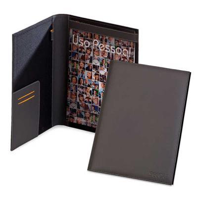 Secoli Brindes - Pasta executiva com 3 bolsos porta cartões, porta caneta e porta papel. Conquiste seu cliente de maneira eficaz!