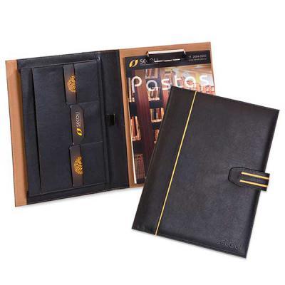 Secoli Brindes - Pasta executiva com porta cartões, canetas e bloco de notas. Sua marca oferecendo soluções práticas ao cliente!