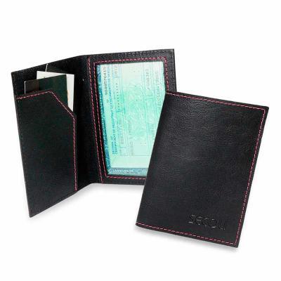 secoli-brindes - Porta documento prático, facilita a visualização do documento e mantém os cartões em fácil acesso.