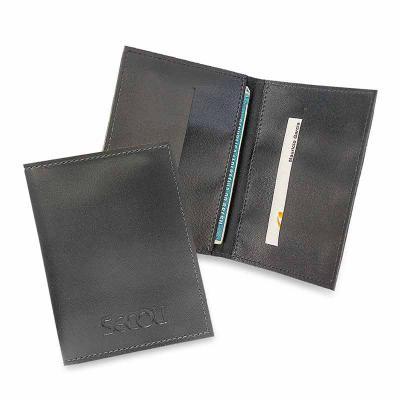 secoli-brindes - Porta documento clássico, também com bolsos para cartões.