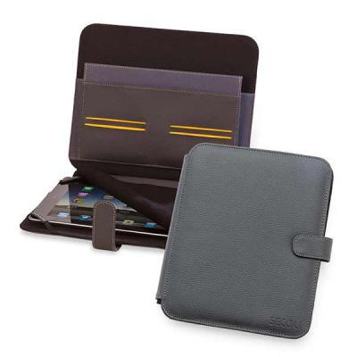Capa para tablet com bolsos, fixação do aparelho por elástico e proteção para tela. Auxilie seu cliente diariamente! - Secoli Brindes