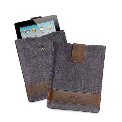 Capa para tablet com bolso para acomodar e fechamento por lingueta com botão de pressão. Auxilie seu cliente diariamente! - Secoli Brindes