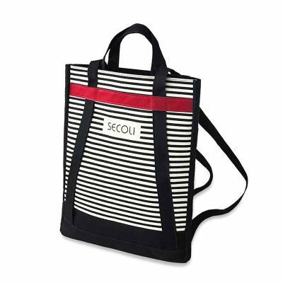 Secoli Brindes - Sacola que pode ser utilizada como mochila. Versátil e surpreendente, ideal para mostrar a sua marca em todos os lugares