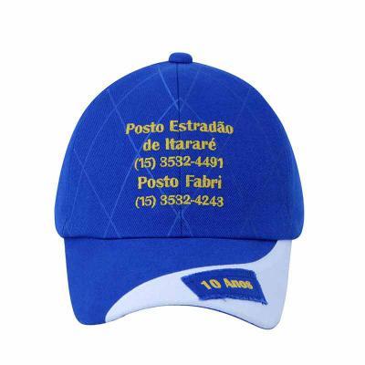 Boné Personalizado com a logomarca da sua empresa/evento. Em Brim, Silkado e bordado. - Bonifor Brindes