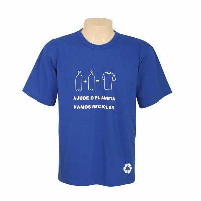 Bonifor Brindes - Camiseta em malha de garrafa pet, alta qualidade, ótima durabilidade. Composta 50% de fios de algodão e 50% fios de poliéster reciclado de garrafa pet...