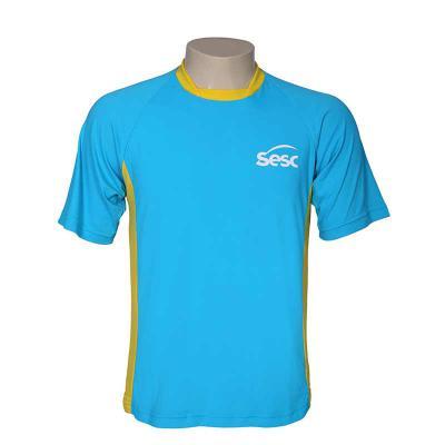 Bonifor Brindes - Camiseta Gola Bayard, manga curta, confeccionada em poliamida e 50% proteção UV. Impressão em Silk screen.