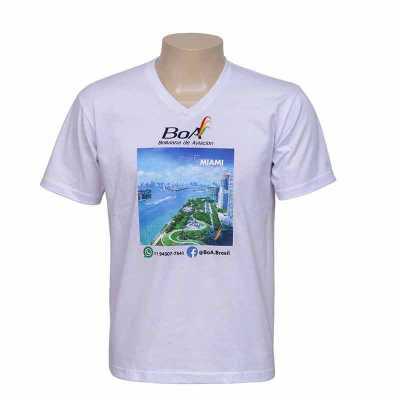 Camiseta Gola V personalizada - Bonifor Brindes