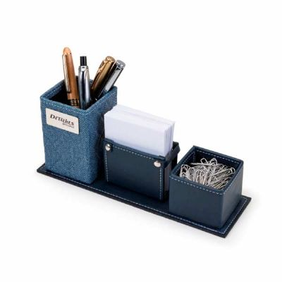 Detalhes Brindes - Porta caneta e conjunto de mesa