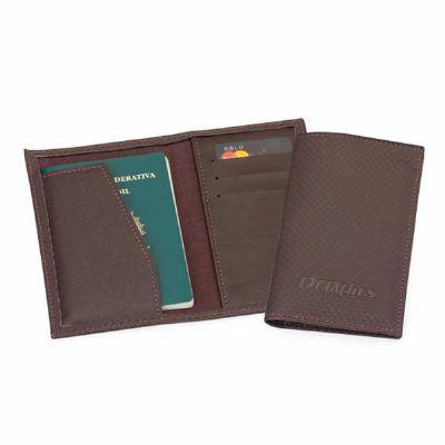 Detalhes Brindes - Porta passaporte personalizado
