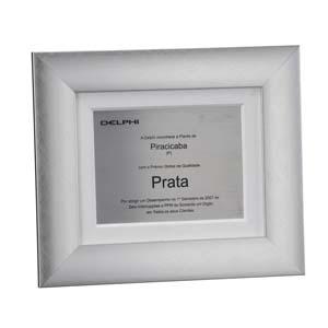 Placa de premiação confeccionada em aço inox.
