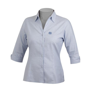 fd96114cfc Camisa social feminina manga 7 por 8 com aplicação de bordados ...