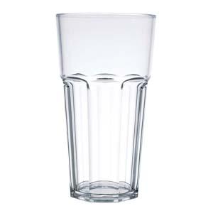 Kos Acrílicos - Copo oitavado alto confeccionado em acrílico. Capacidade 430 ml.
