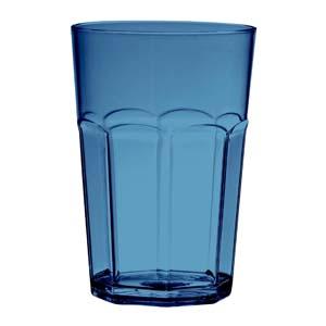 Kos Acrílicos - Copo oitavado médio confeccionado em acrílico. Com capacidade de 390 ml.