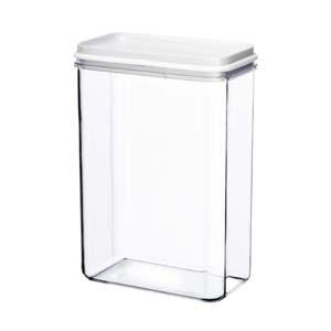 kos-acrilicos - Porta mantimento médio, confeccionado em acrílico. Jogo com 6 unidades.