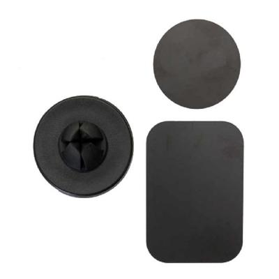 """Suporte veicular magnético plástico resistente com frente emborrachada. Para utilizar basta colocar a """"ficha"""" circular ou retangular magnética na capa... - Crazy Ideas"""
