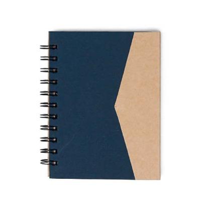 Crazy Ideas - Bloco de anotações ecológico com sticky notes e suporte para caneta. Bloco de capa colorida com abertura lateral imantada, primeira folha com cinco bl...